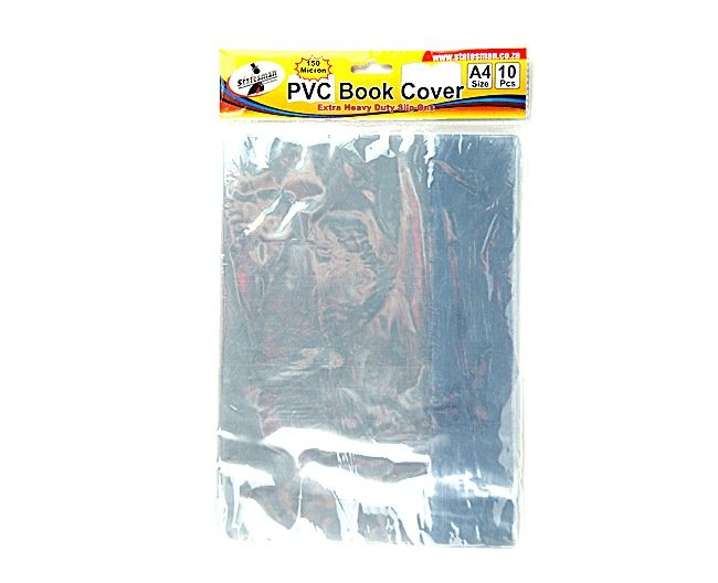 A4 Slip on Plastic Covers 10 Pack Statesman Heavy Duty 1