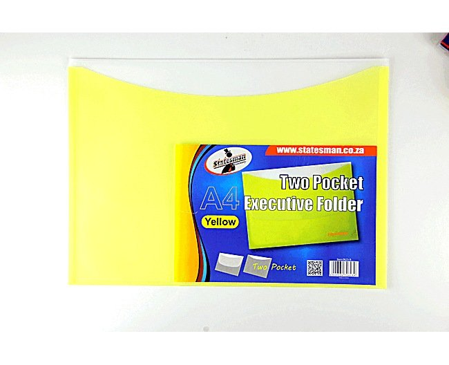Executive Folders 2 Pocket 4 Pack Yellow Special Offer 1