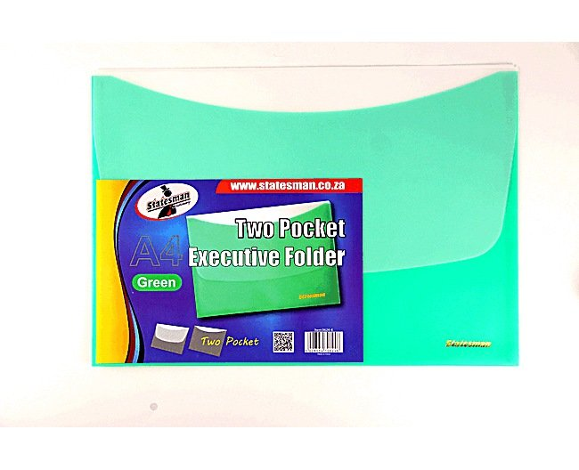 Executive Folders 2 Pocket 4 Pack Green Special Offer 1