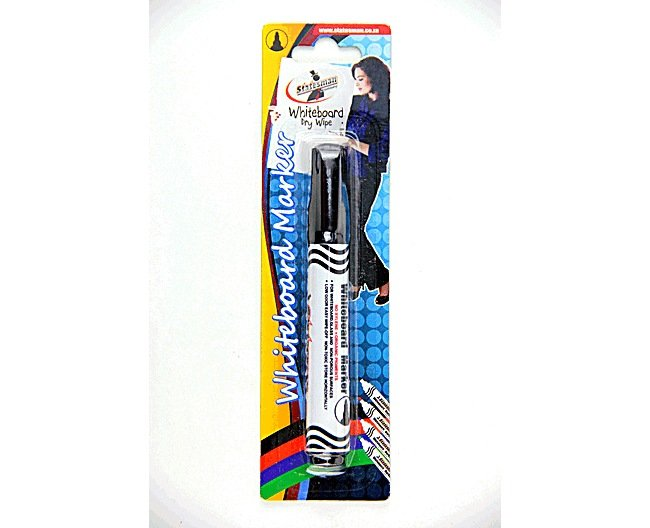 Whiteboard Markers Black Carded Single Pack 1