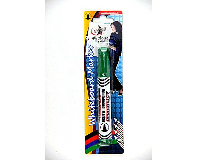 Whiteboard Markers Green Carded Single 1