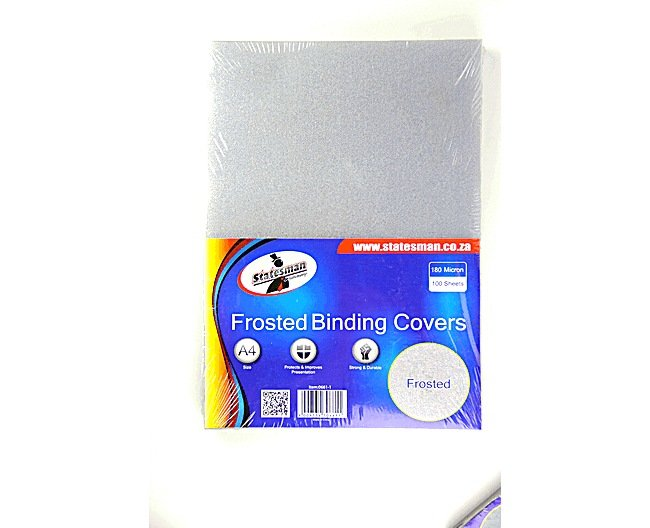 Binding Covers Frosted (180 Micron)100 Pack 1
