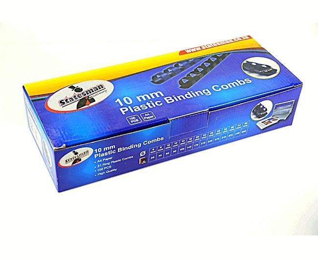 Binding Combs Black 10mm 100 Pack 1