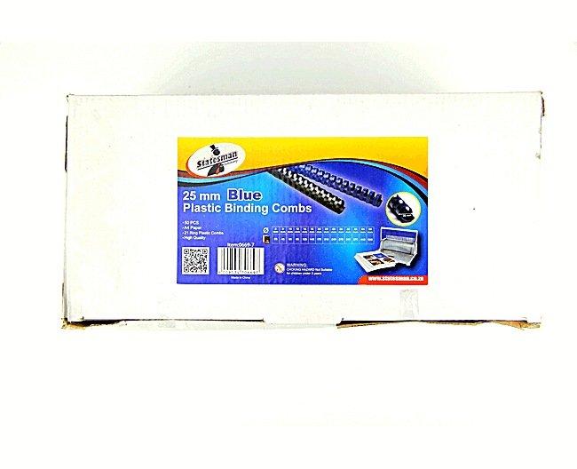Binding Combs Blue 25mm 50 Pack 1