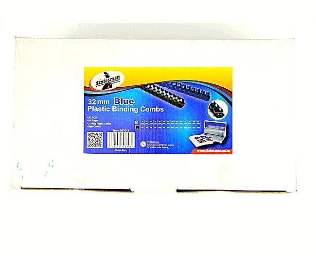 Binding Combs Blue 32mm 50 Pack 1