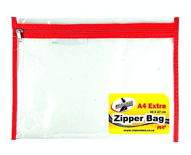 Zipper Bag PVC Red Zip High Quality 1