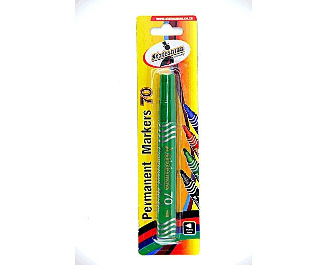 Permanent Marker Green Singles Carded New 1