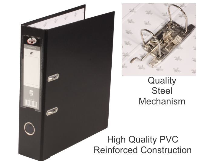 Lever Arch File PVC Black A4 1