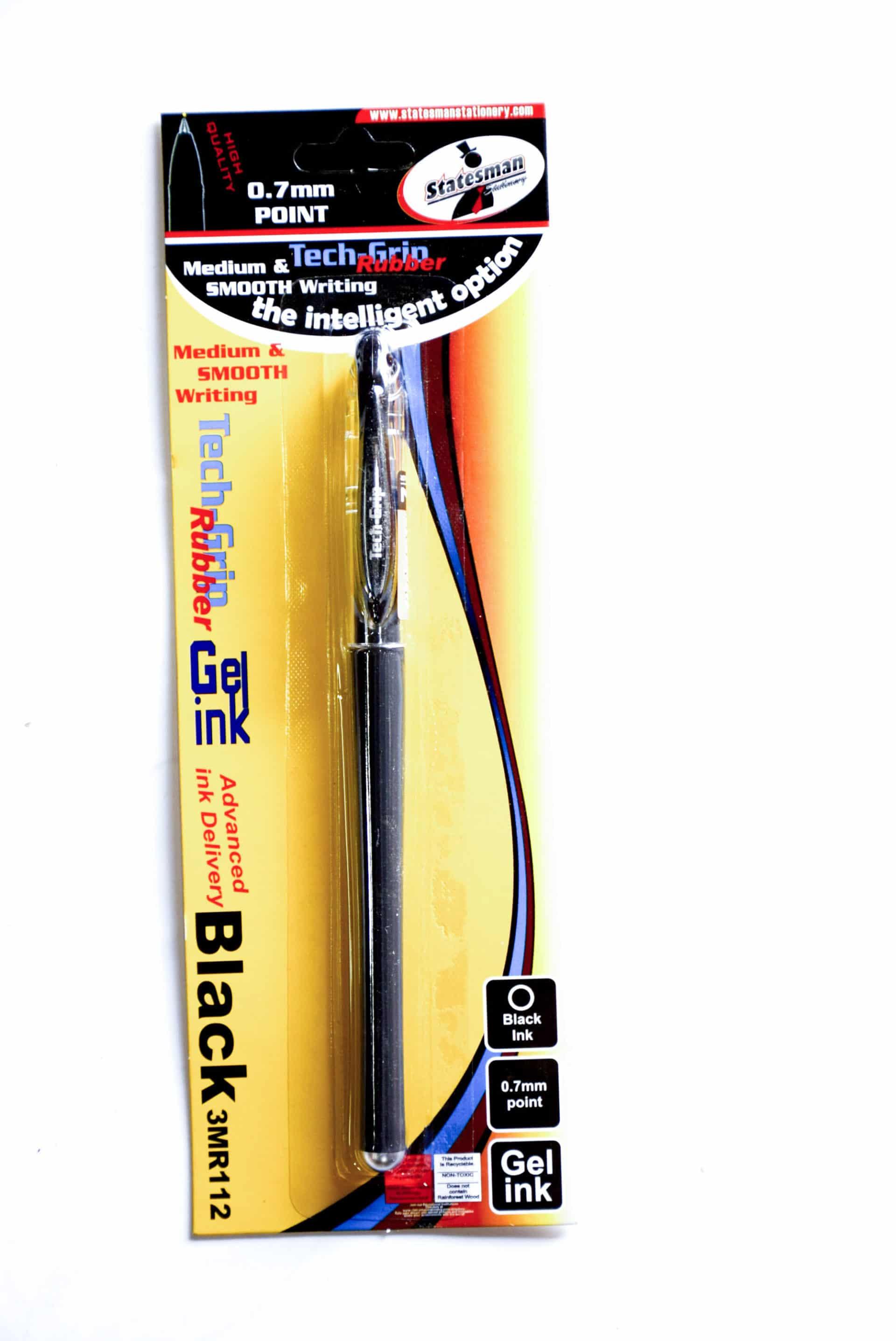 Gel Pen Tech Grip (350blk657) Gp-350 Black 0.7mm 1