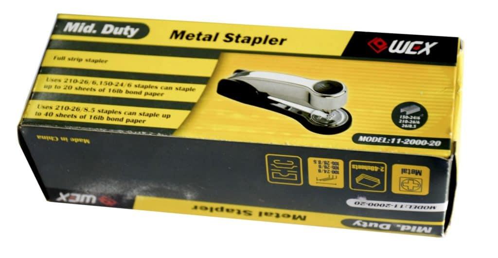 WEX Y2000 Heavy Duty Full Strip Chrome Stapler 20-30 Sheet 1