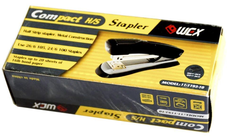 WEX Half Strip Metal Stapler 26/6 (1028-10) 1
