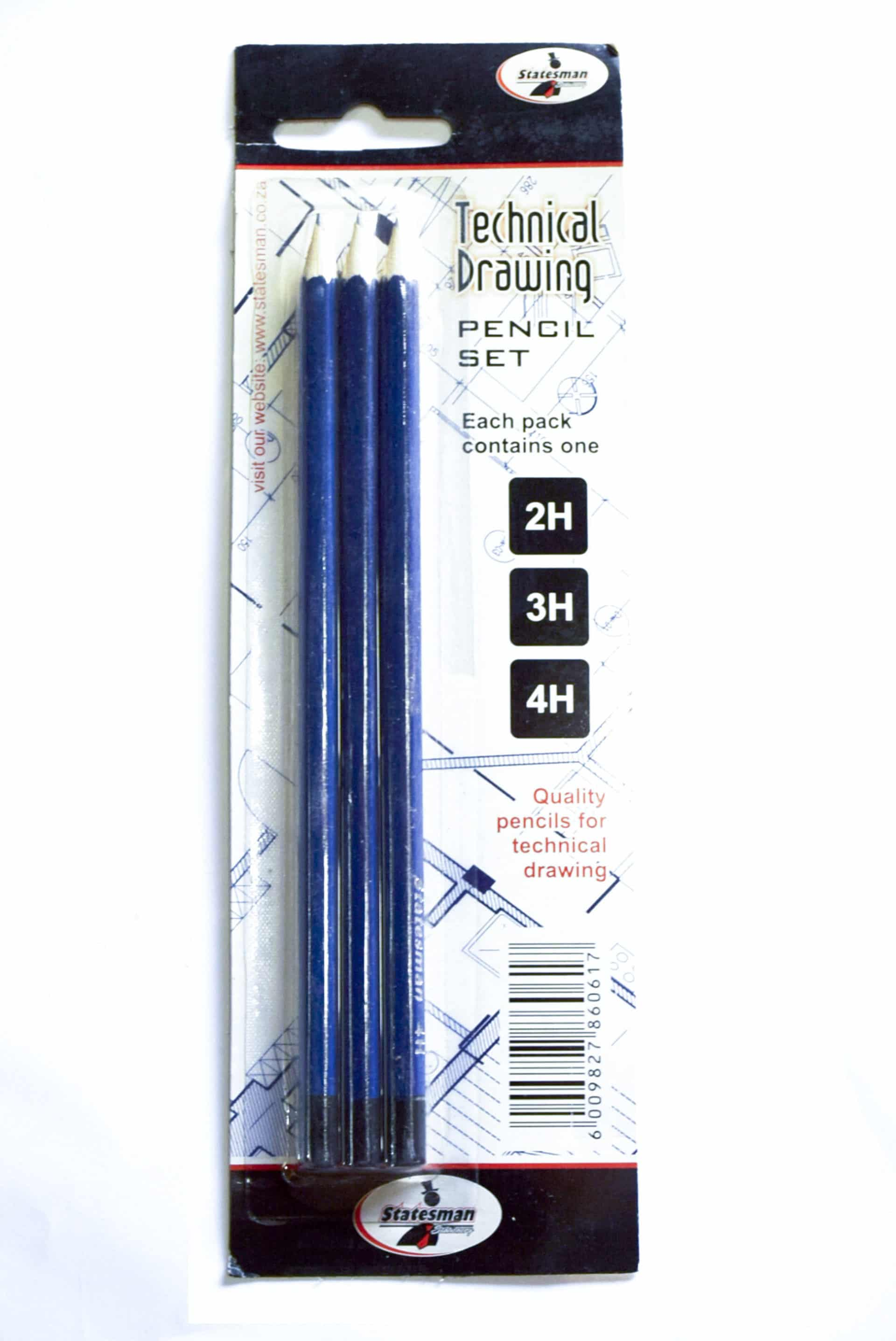 3 Piece Lead Pencil for Technical Drawing 1