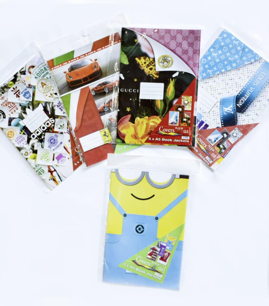 A5 Ready Cut Covers Assorted Funky Designs 5 Pack 1