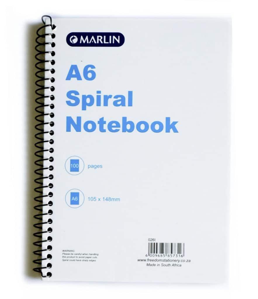 A6 Spiral Note Book 1