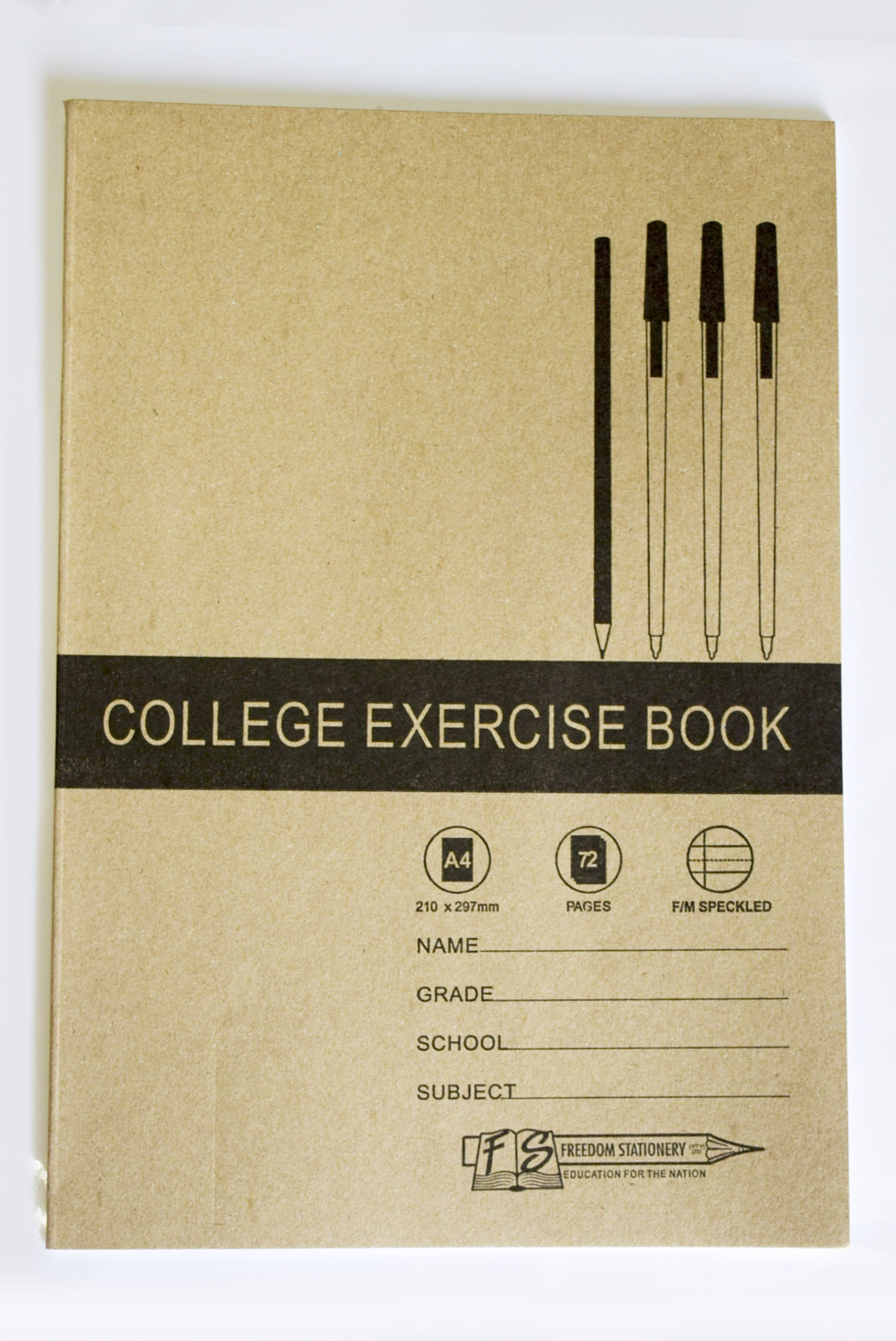 Buy a Ton! A4 Feint and Margined 72 Page Speckled Exercise Books with a Soft Cover (2092) 1