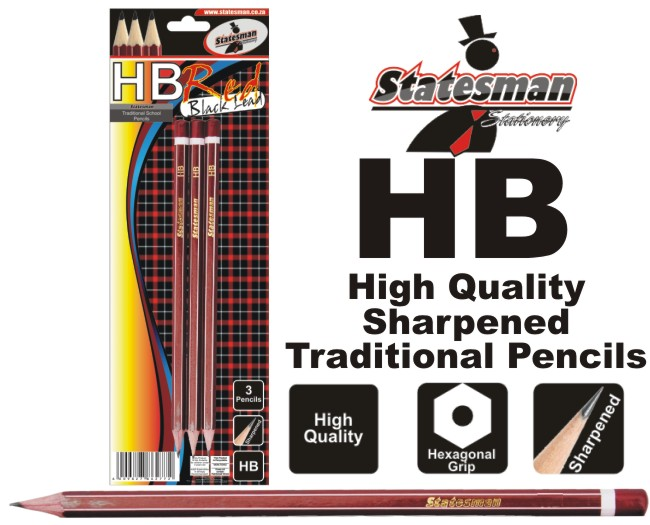 3 Pack HB Traditional School and Office Pencils 1
