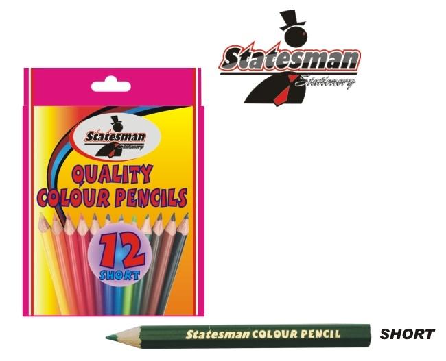 12 Pack Short Colour Pencils 1