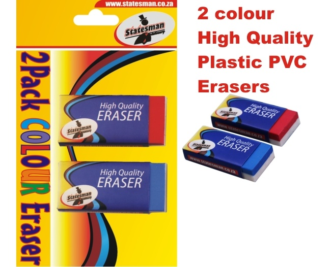 2 Tone Colour Erasers 2 Pack 1