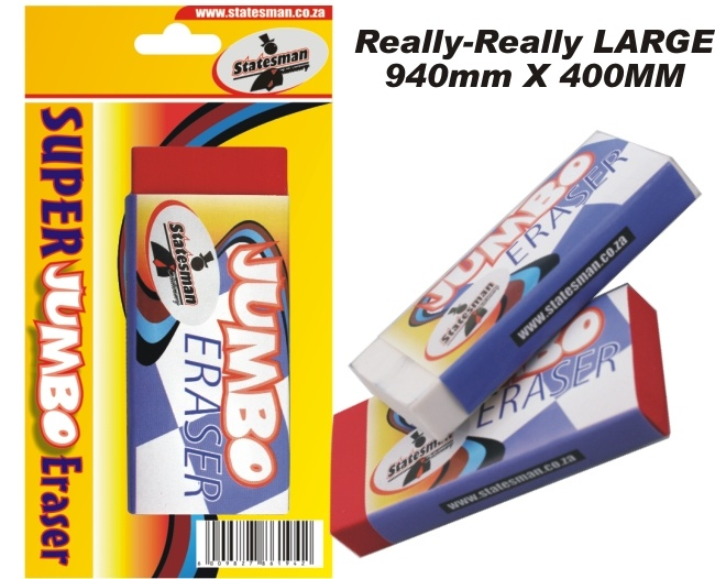 Super Jumbo Eraser 94mm X 40mm 1