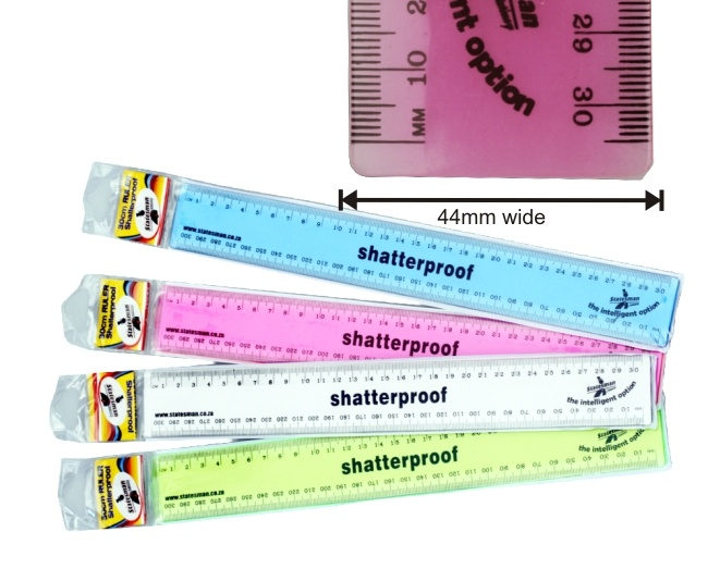 30cm 100%  Shatterproof Ruler High Quality 1