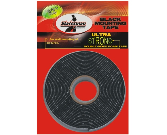 Two Way Black Double Sided Tape 1