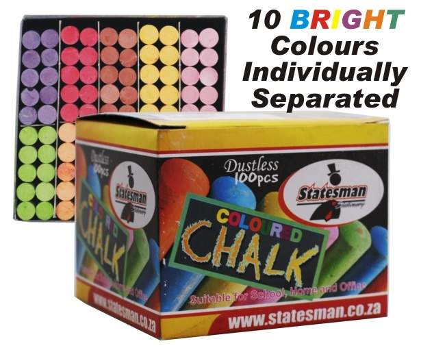 Colour Chalk Conveniently Separated Into 10 1