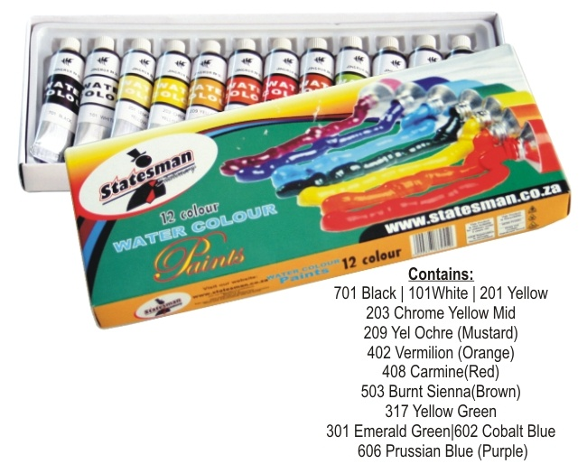 Water Paint Tubes in a Box 12 Colour 1
