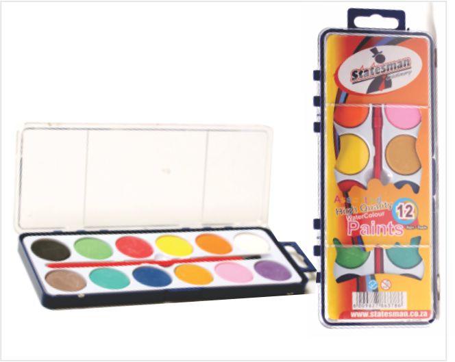 Watercolour Cake Paint Set With Brush 24 Colour 1