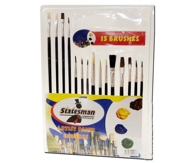 15 Piece Artist Paint Brush Set 1