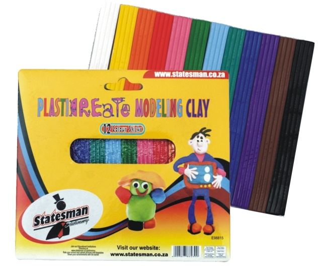 Plasticine Modeling Clay -12 Colours 200g 1