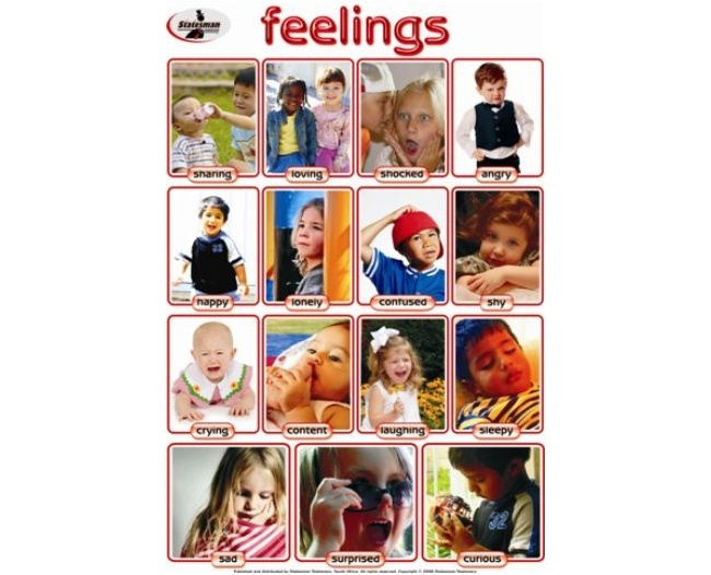 Feelings Write and Wipe Educational Poster 1