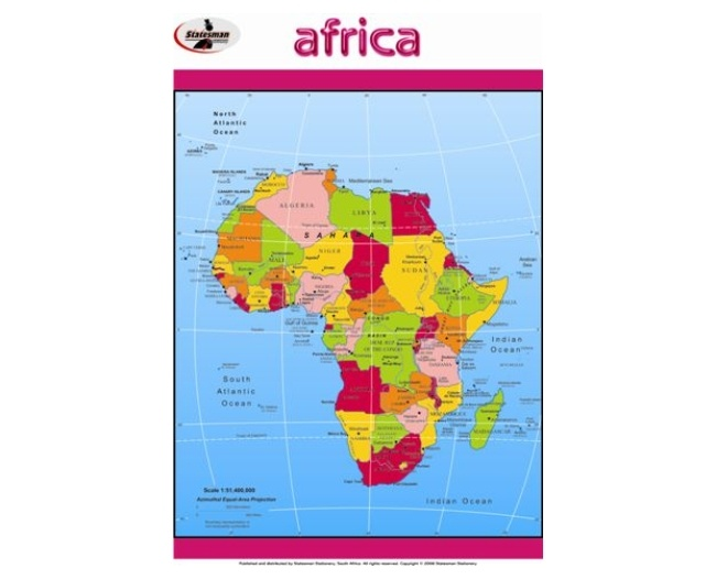 Africa Write and Wipe Educational Posters 1