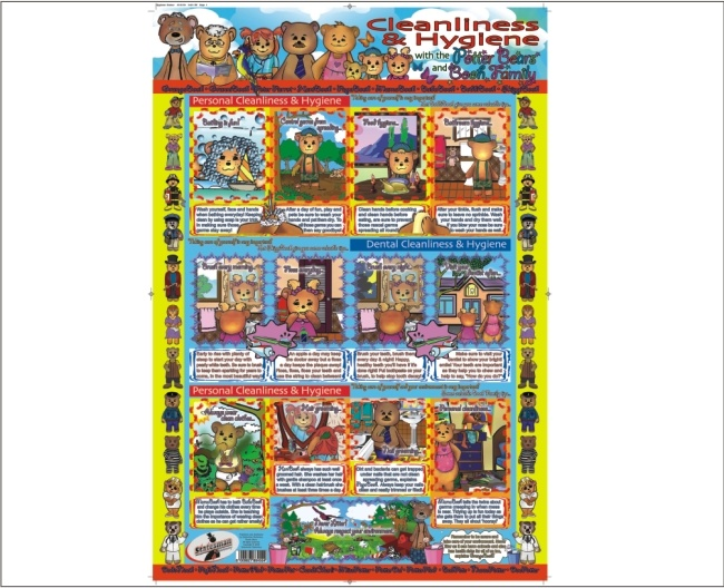 Cleanliness and Hygiene Write and Wipe Educational Posters 1