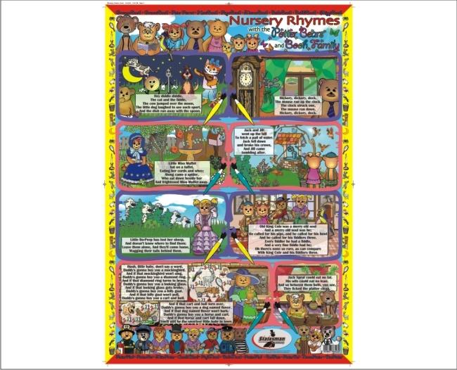 Nursery Rhymes Write and Wipe Educational Posters 1