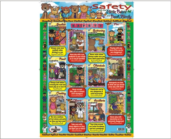 Safety Write and Wipe Educational Posters 1