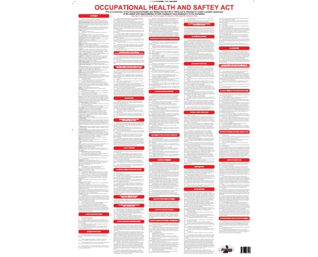 Occupational Health and Safety Act Legal Posters 1