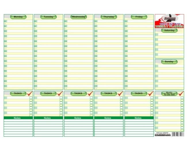 Write and Wipe Week Planner 1