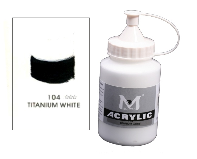 Number 104 Titanium White Professional Acrylic Paint 1
