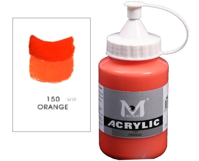 Number 150 Orange Professional Acrylic Paint 250ml 1