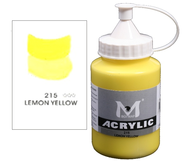 Number 215 Lemon Yellow Professional Acrylic Paint 1