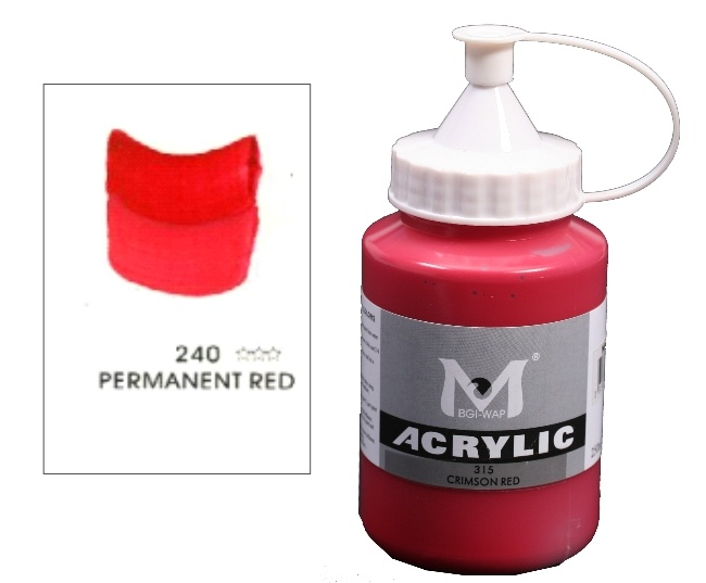 Number 240 Permanent Red Professional Acrylic Paint 1