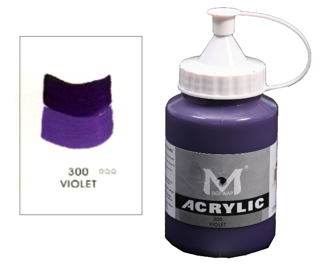 Number 300 Violet Professional Acrylic Paint 250ml 1