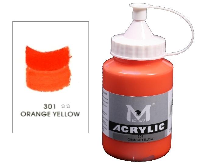 Number 301 Orange Yellow Professional Acrylic Paint 1