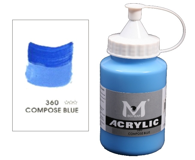 Number 360 Compos Blue Professional Acrylic Paint 1