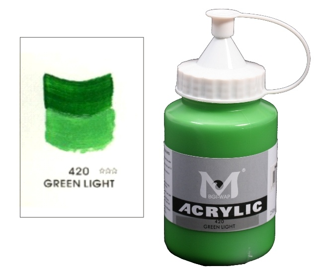 Number 420 Light Green Professional Acrylic Paint 1