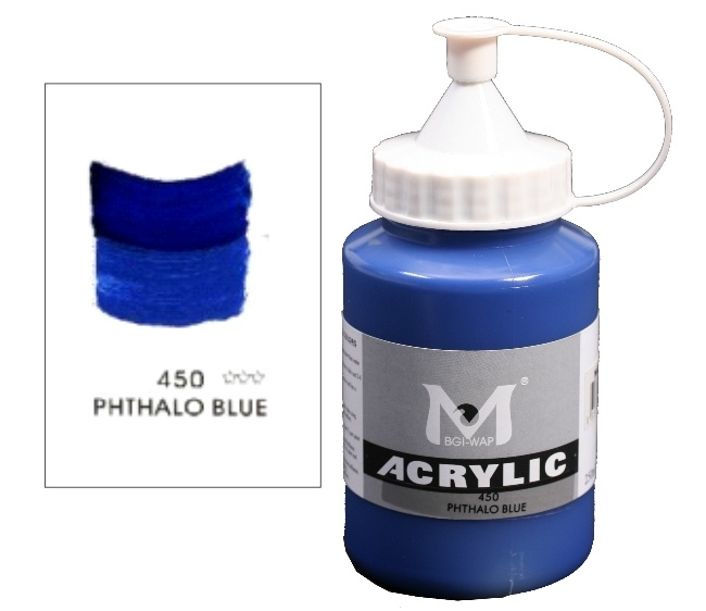 Number 450 Phthalo Blue Professional Acrylic Paint 1