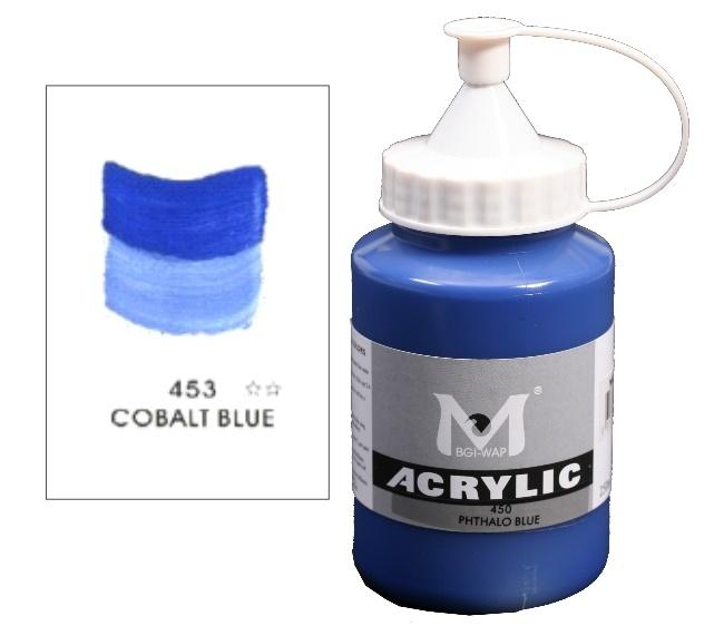 Number 453 Cobalt Blue Professional Acrylic Paint 1