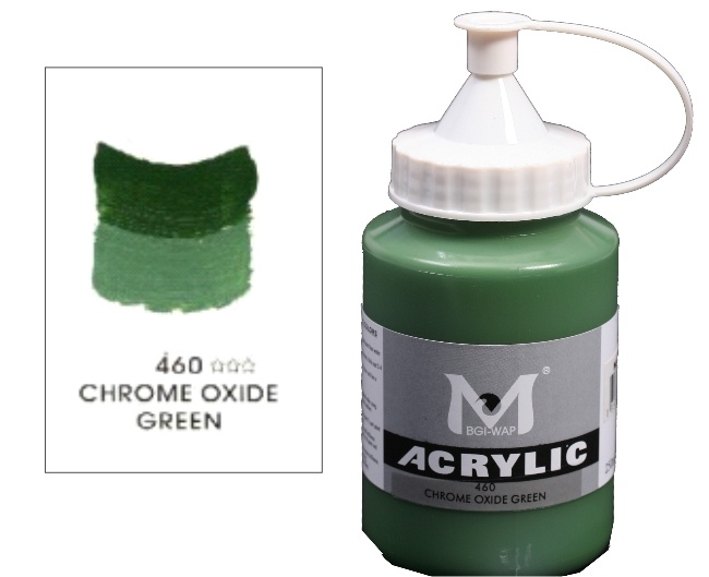 Number 460 Chrome Oxy Green Professional Acrylic Paint 1