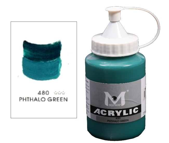 Number 480 Phthalo Green Professional Acrylic Paint 1