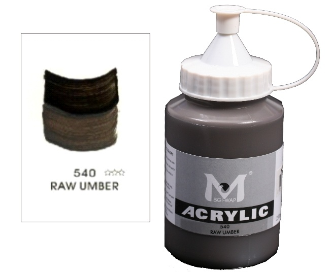 Number 540 Raw Umber Professional Acrylic Paint 1
